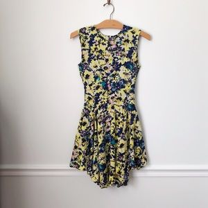 H&M Yellow and Navy Floral Dress